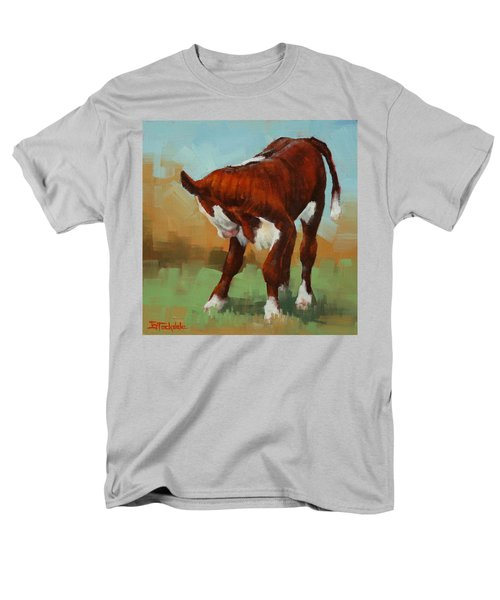 Men's T-Shirt  (Regular Fit) featuring the painting Turning Calf by Margaret Stockdale