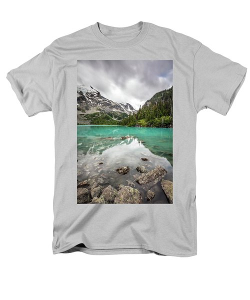 Turquoise Lake In The Mountains Men's T-Shirt  (Regular Fit) by Pierre Leclerc Photography