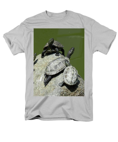 Men's T-Shirt  (Regular Fit) featuring the photograph Turtles At A Temple In Narita, Japan by Breck Bartholomew