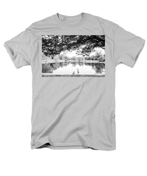 Men's T-Shirt  (Regular Fit) featuring the photograph Two At The Pond by Karol Livote
