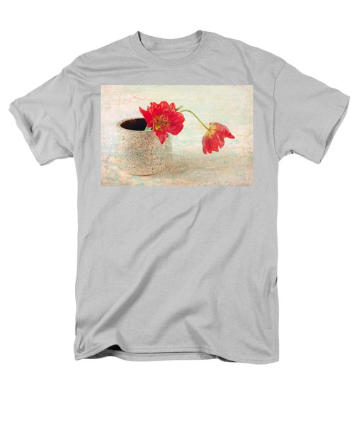 Two  Tulips   Men's T-Shirt  (Regular Fit) by Catherine Lau