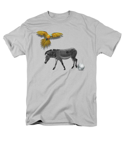 Two Zebras And Macaw Men's T-Shirt  (Regular Fit) by iMia dEsigN