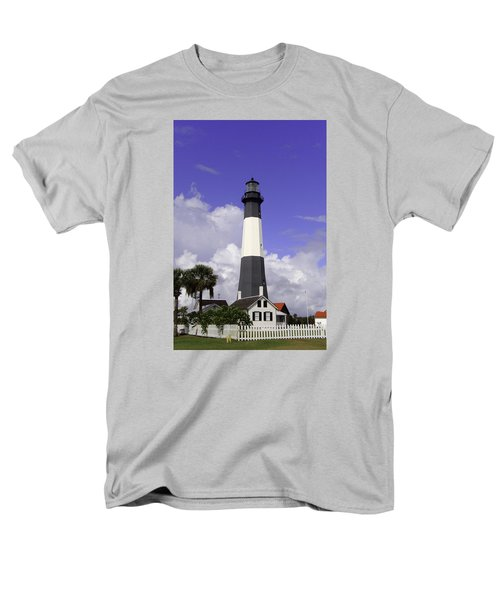 Tybee Island Lighthouse Men's T-Shirt  (Regular Fit) by Elizabeth Eldridge