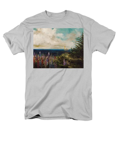 Men's T-Shirt  (Regular Fit) featuring the painting Under Full Sail by John Williams