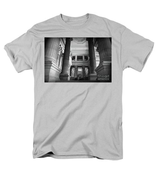 Men's T-Shirt  (Regular Fit) featuring the photograph Under The Scaffolding Of The Palace Of Justice - Brussels by RicardMN Photography