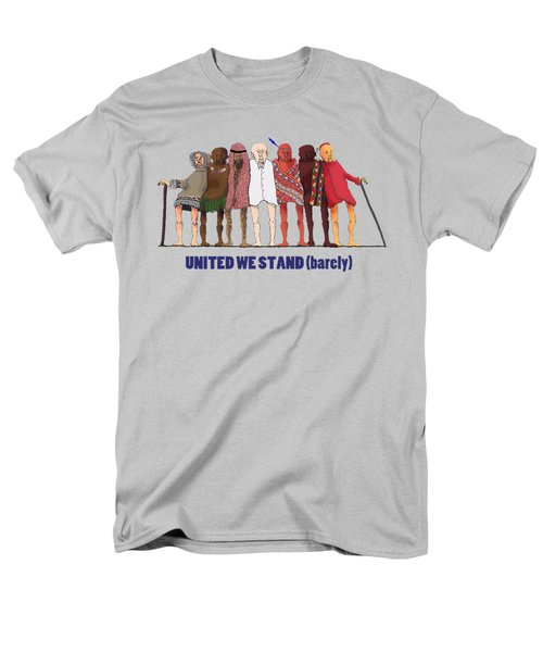 Men's T-Shirt  (Regular Fit) featuring the drawing United We Stand Transparent Background by R  Allen Swezey