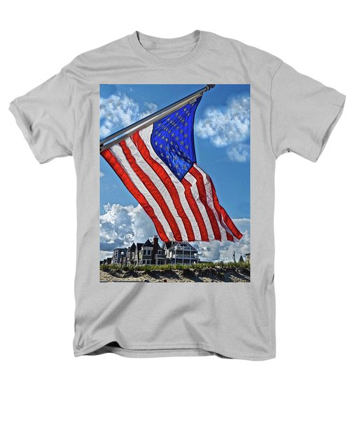 Us Flag,ocean Grove,nj Flag Men's T-Shirt  (Regular Fit) by Joan Reese