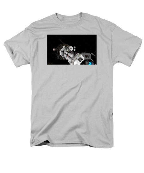 Uss Savannah Nearing Jupiter Men's T-Shirt  (Regular Fit) by David Robinson