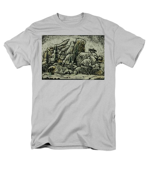 Men's T-Shirt  (Regular Fit) featuring the drawing Vedauwoo by Dawn Senior-Trask