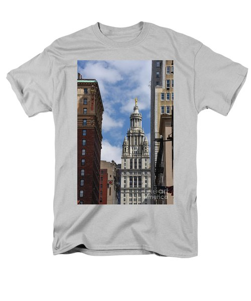 Men's T-Shirt  (Regular Fit) featuring the photograph Veiw Of City Hall by Judy Wolinsky