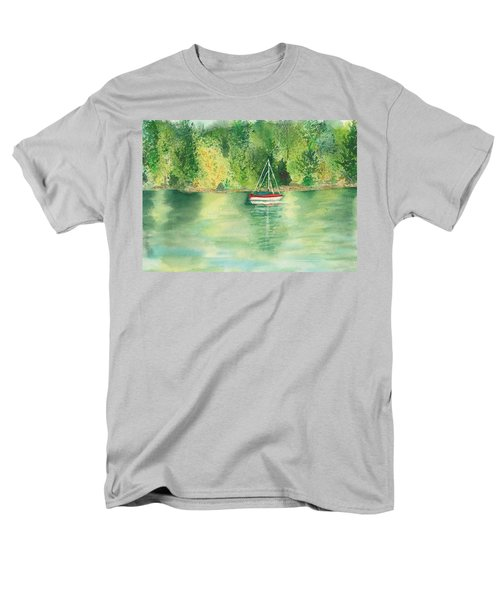 Men's T-Shirt  (Regular Fit) featuring the painting View From Millbay Ferry by Vicki  Housel