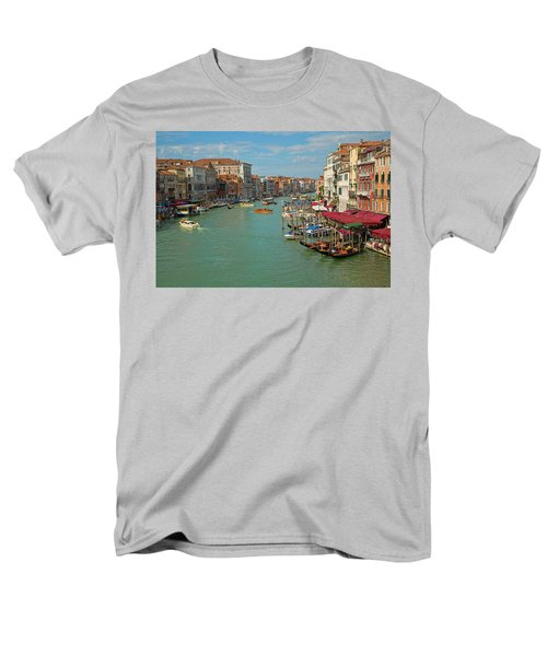 Men's T-Shirt  (Regular Fit) featuring the photograph View From Rialto Bridge by Sharon Jones