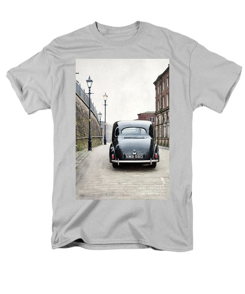 Vintage Car On A Cobbled Street Men's T-Shirt  (Regular Fit) by Lee Avison