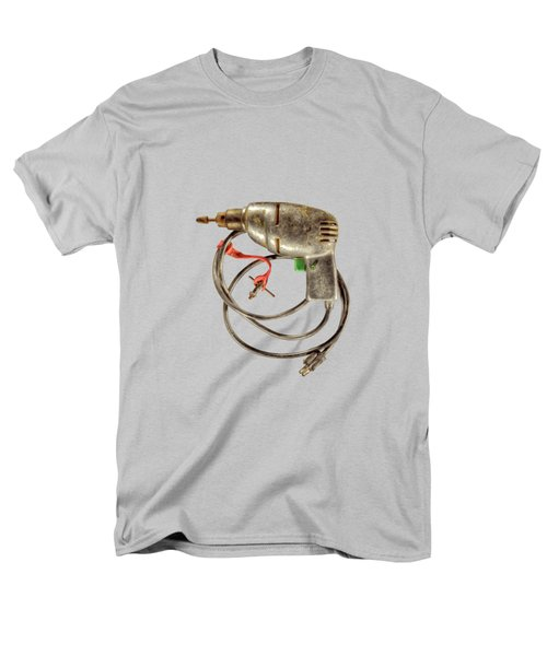 Men's T-Shirt  (Regular Fit) featuring the photograph Vintage Drill Motor Green Trigger Pattern by YoPedro