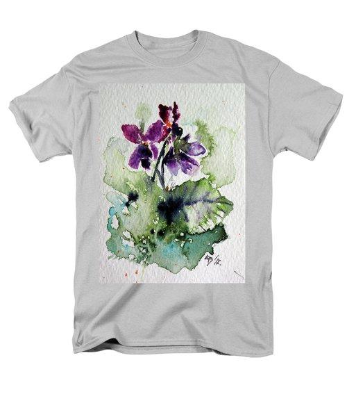 Men's T-Shirt  (Regular Fit) featuring the painting Violet Iv by Kovacs Anna Brigitta