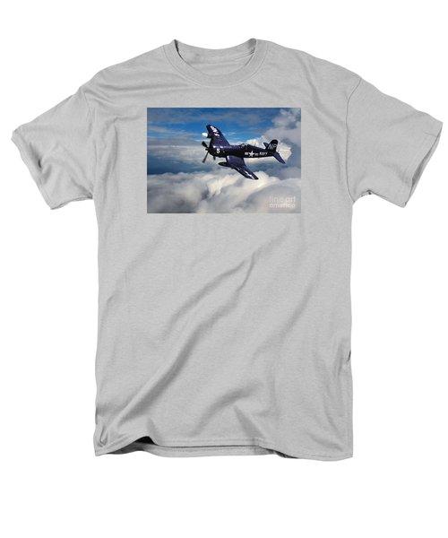 Vought F4u Corsair In Flight Men's T-Shirt  (Regular Fit) by Wernher Krutein