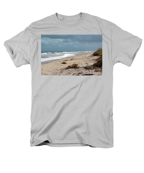 Walks On The Beach Men's T-Shirt  (Regular Fit) by Megan Dirsa-DuBois