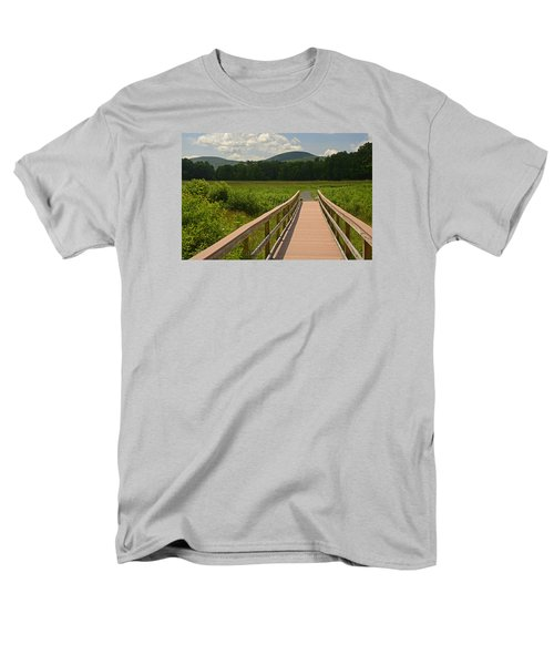 Men's T-Shirt  (Regular Fit) featuring the photograph Walkway To A Mountain Color by Nancy De Flon
