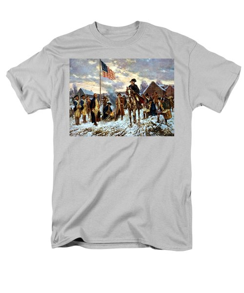 Washington At Valley Forge Men's T-Shirt  (Regular Fit) by War Is Hell Store