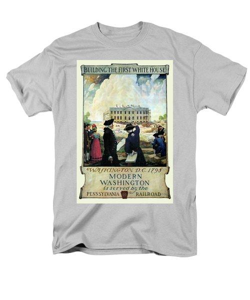 Washington D C Vintage Travel 1932 Men's T-Shirt  (Regular Fit) by Daniel Hagerman