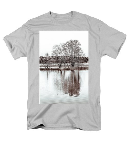 Men's T-Shirt  (Regular Fit) featuring the photograph Water And Trees by Wade Brooks