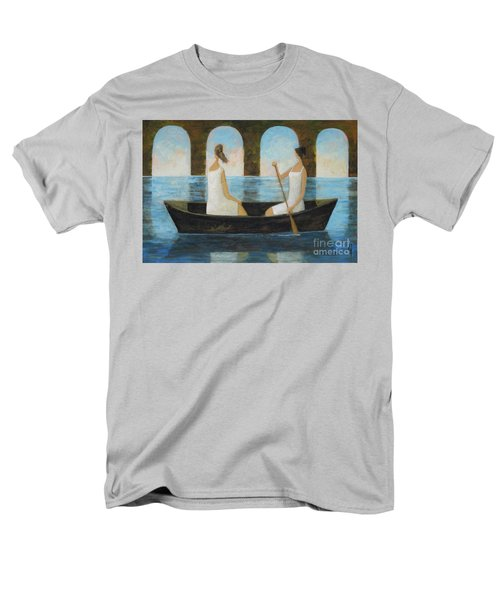 Men's T-Shirt  (Regular Fit) featuring the painting Water Under The Bridge by Glenn Quist