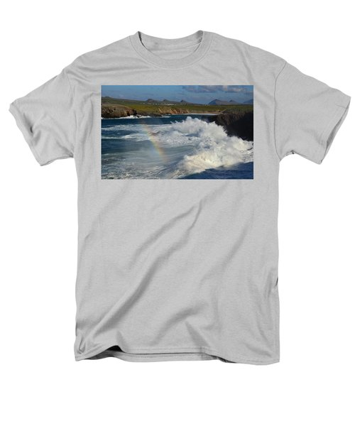 Waves And Rainbow At Clogher Men's T-Shirt  (Regular Fit) by Barbara Walsh