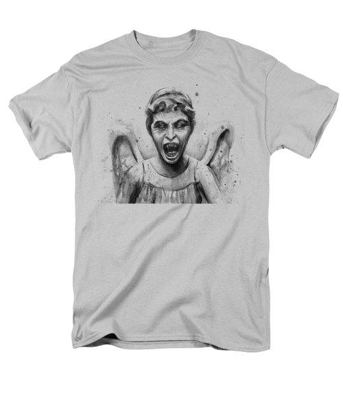 Weeping Angel Watercolor - Don't Blink Men's T-Shirt  (Regular Fit) by Olga Shvartsur