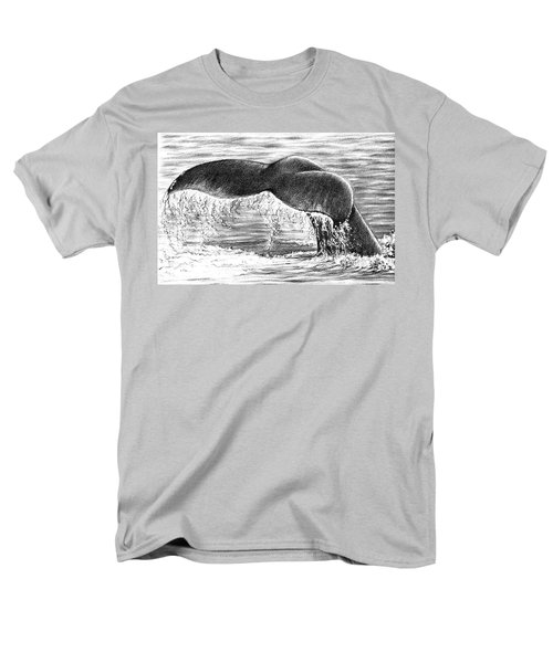 Men's T-Shirt  (Regular Fit) featuring the drawing Whale Tail by Heidi Kriel