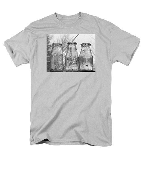 What The Milk Man Left, Bw Men's T-Shirt  (Regular Fit) by Sandra Church