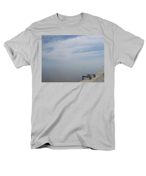 Men's T-Shirt  (Regular Fit) featuring the photograph Where Water Meets Sky by Mary Mikawoz