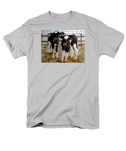 Where's My Milk? Men's T-Shirt  (Regular Fit) by Carol Grimes