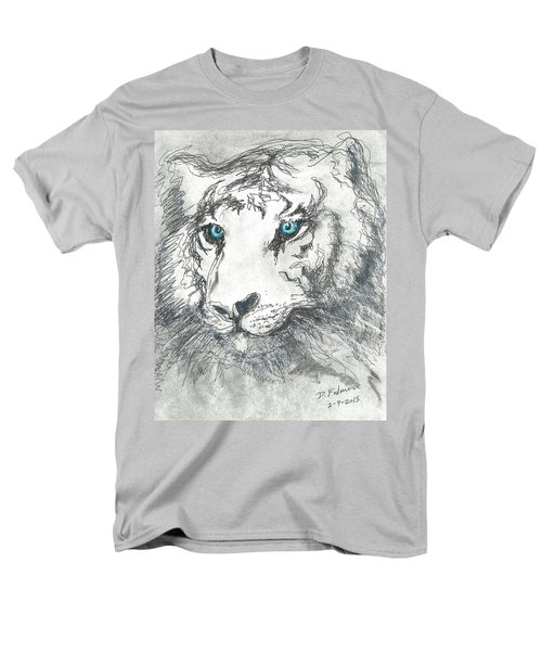 White Bengal Tiger Men's T-Shirt  (Regular Fit) by Denise Fulmer