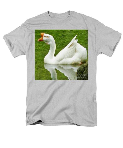 Men's T-Shirt  (Regular Fit) featuring the photograph White Chinese Goose by Susan Garren
