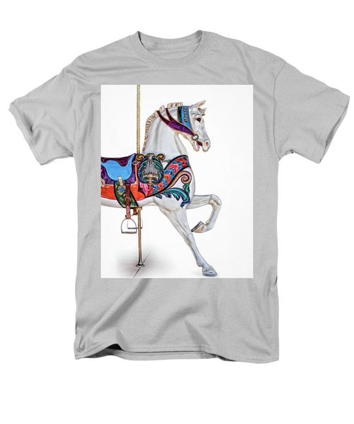 White Horse Of The Carousel Men's T-Shirt  (Regular Fit) by David and Carol Kelly