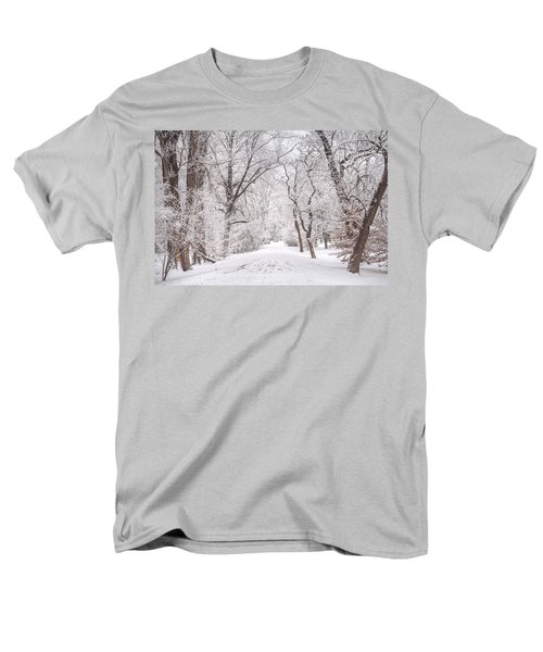 Men's T-Shirt  (Regular Fit) featuring the photograph White Path To Winter Dream by Jenny Rainbow