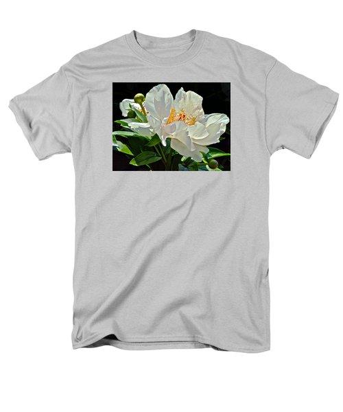 White Peony Men's T-Shirt  (Regular Fit) by Janis Nussbaum Senungetuk