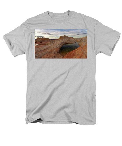White Pocket Reflecton Men's T-Shirt  (Regular Fit) by Jonathan Davison