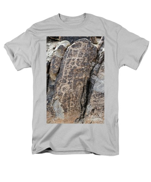Men's T-Shirt  (Regular Fit) featuring the photograph White Tank Petroglyphs #1 by Anne Rodkin