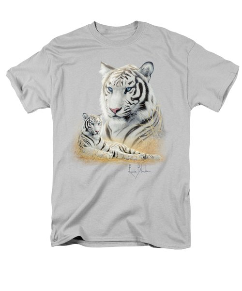 White Tiger Men's T-Shirt  (Regular Fit) by Lucie Bilodeau