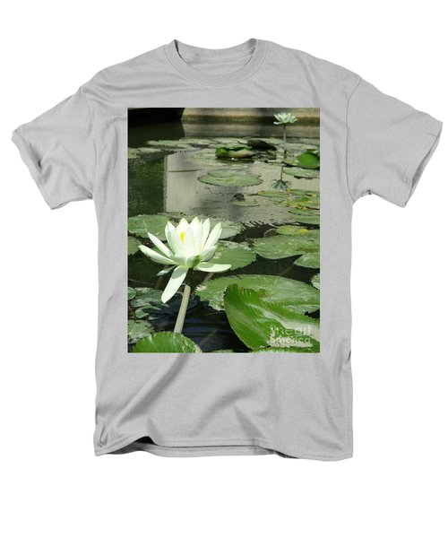 Men's T-Shirt  (Regular Fit) featuring the photograph White Water Lily 3 by Randall Weidner