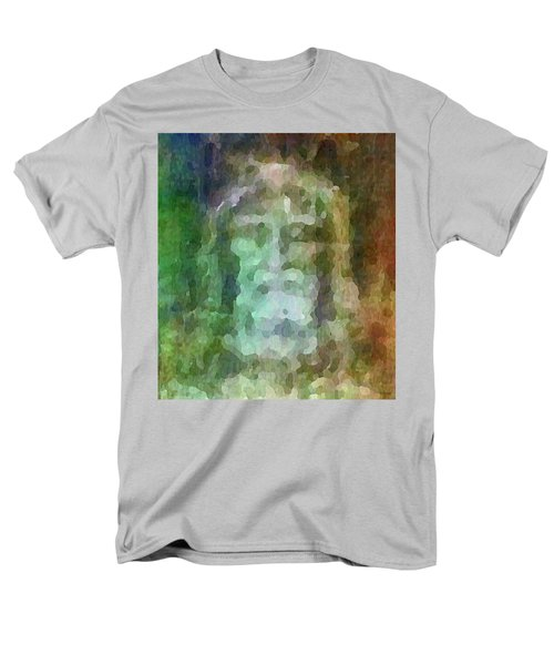 Who Do Men Say That I Am - The Shroud Men's T-Shirt  (Regular Fit) by Glenn McCarthy Art and Photography
