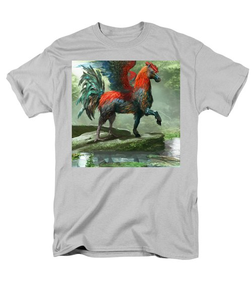Wild Hippalektryon Men's T-Shirt  (Regular Fit) by Ryan Barger