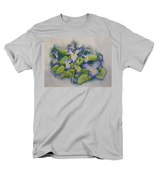 Wild Violets Men's T-Shirt  (Regular Fit) by Marilyn Zalatan