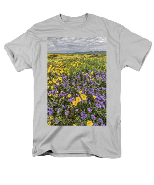 Men's T-Shirt  (Regular Fit) featuring the photograph Wildflower Super Bloom by Peter Tellone