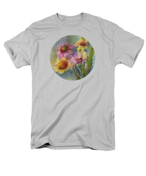 Men's T-Shirt  (Regular Fit) featuring the painting Wildflowers by Mary Wolf