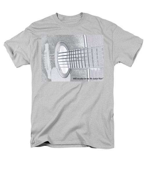 Will You Play For Me Men's T-Shirt  (Regular Fit) by Rhonda McDougall