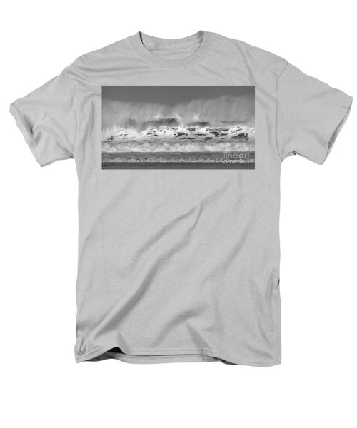 Men's T-Shirt  (Regular Fit) featuring the photograph Wind Blown Waves by Nicholas Burningham