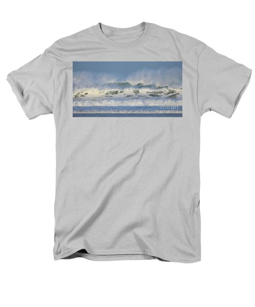 Men's T-Shirt  (Regular Fit) featuring the photograph Wind Swept Waves by Nicholas Burningham