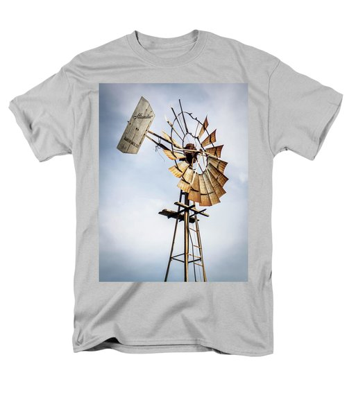 Men's T-Shirt  (Regular Fit) featuring the photograph Windmill In The Sky by Dawn Romine